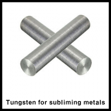 NILACO, Tungsten for subliming metals