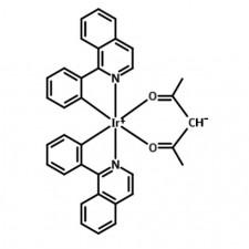 Ir(piq)2(acac), 250mg Sublimed Grade (>99.5% purity)